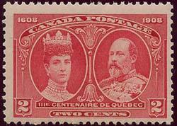 Canada - 1908 2c King Edward & Queen Alexandra mint #98