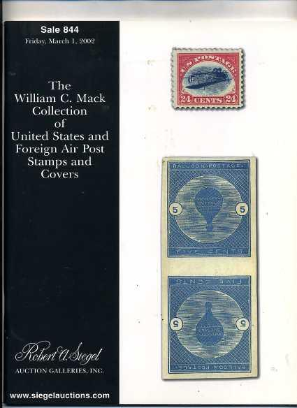 Siegel Rarity Sale C3a and Balloon Postage