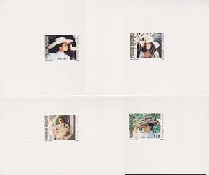 FRENCH POLYNESIA 1983 Hats - set of 4 large die proofs......................4062