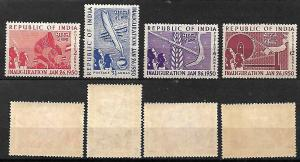 INDIA STAMPS 1950 SET COMPLETE Sc.#227-230. MLH