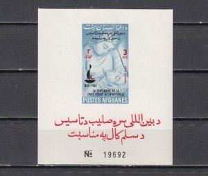 Afghanistan, Scott cat. 662k. Centenary Of Red Cross, IMPERF s/sheet. ^