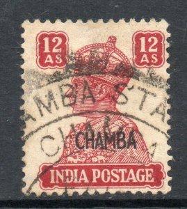 Indian States Chamba 1942 KGVI 12a SG 119 used CV £80