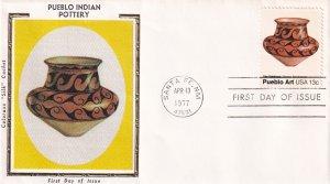 1977, Pueblo Indian Pottery, Colorano Silk, FDC (E12204)