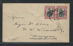 NORTH BORNEO (PP0204B) 4C MONKEY PR SANDAKN TO SINGAPORE