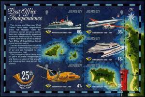 HERRICKSTAMP JERSEY Sc.# 689a Water & Aircraft S/S