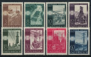 Austria #B199-206*  CV $3.20  Vienna Fair set
