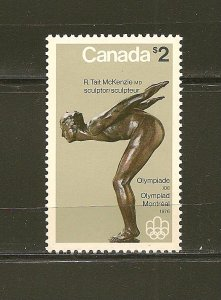 Canada 657 Olympic Sculptures $2.00 The Plunger MNH