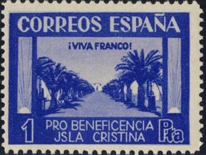 ESPAGNE / SPAIN / ESPAÑA ISLA CRISTINA (HUELVA) 1P. (Viva Franco) Sofima #17  **