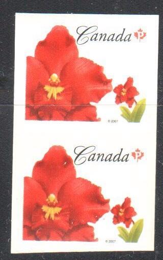 Canada #2244 XF NH Imperf Horizontally Pair