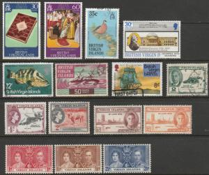 British Virgin Islands, 15 Mint & Used On Scan