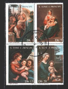 Sao Tome and Principe. 1987. Quart 1021-24. Madonna, christmas. USED.