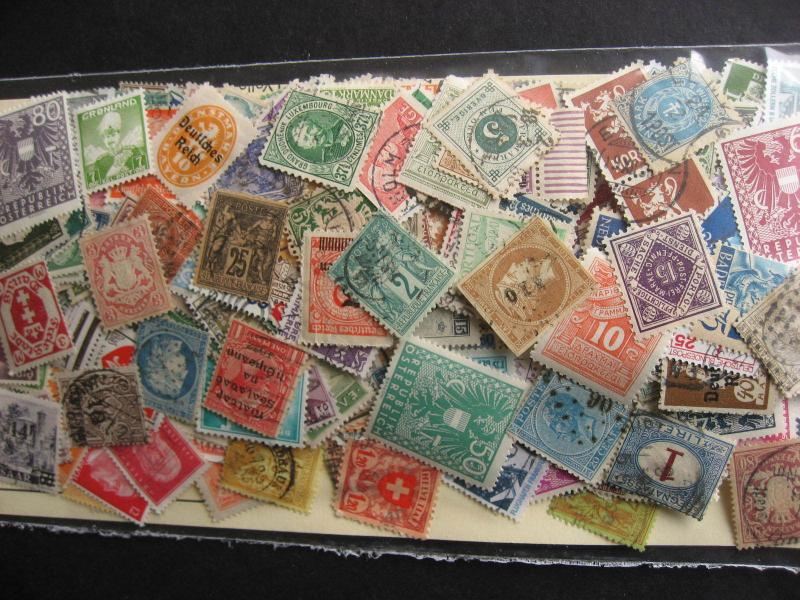 WESTERN EUROPE gambler mixture (duplicates,mixed cond) 500 watch the old stuff!