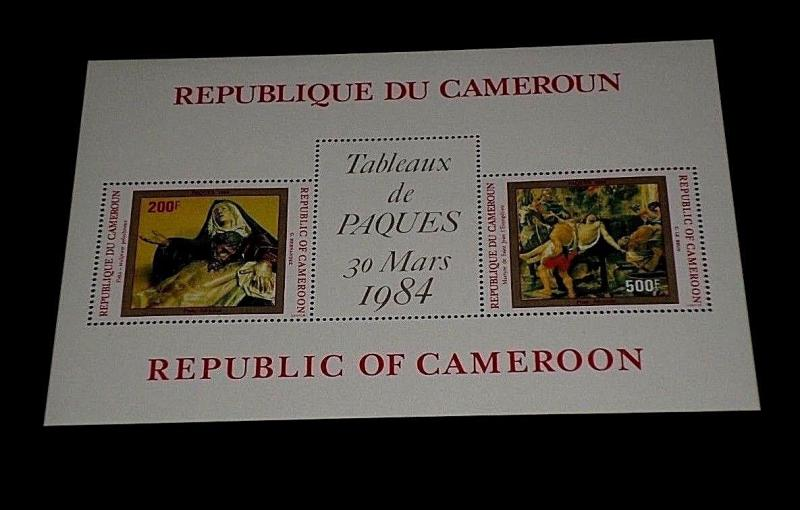 CAMEROON, 1984, EASTER, PAINTINGS, RELIGION,, SOUVENIR SHEET, MNH, NICE! LQQK