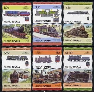 Tuvalu - Niutao 1985 Locomotives #2 (Leaders of the World...