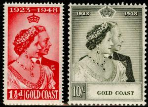 GOLD COAST SG147-148, COMPLETE SET, NH MINT. Cat £35. RSW.