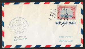 UNITED STATES Event Cover Francis Marion Field Dedication 1928 Marion