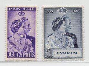 Cyprus - 1948 - SG 166-67 - MNH