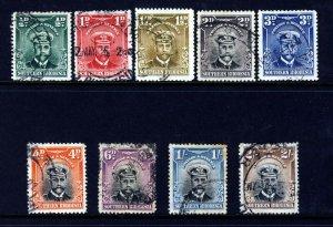 SOUTHERN RHODESIA King George V 1924-29 Admirals Part Set SG 1 to SG 12 VFU