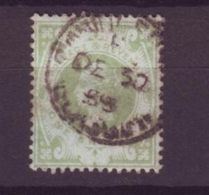 J14008 JLstamps 1887-92 great britain used #122 queen $72.50 scv