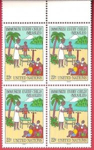 1987 United Nations NY Immunize Every Child SC# 517-518 Mint