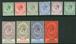 GIBRALTAR-19152-24 A mounted mint set to £1 Sg 76-85