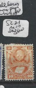 BOLIVIA  (P0706B)  10C  SC 21  VERY FRESH FULL MOG ALAS SOME PAPER ON BACK