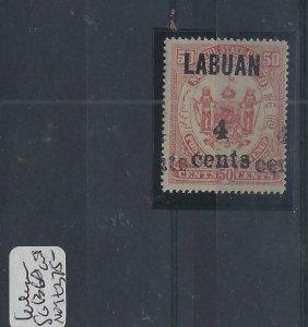 LABUAN (P0101B) 4C/50C DOUBLE OVPT SG 136A CEREMEUGA CERT MOG
