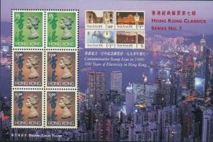 Hong Kong #651Bm 100 yrs Electricity in Hong Kong S/S ~ (9568)
