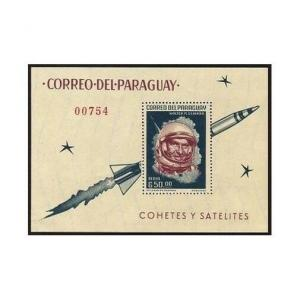 Paraguay 841a perf,imperf,MNH.MiBl.60-61. Space Achievements,1964.Braun,Kennedy.