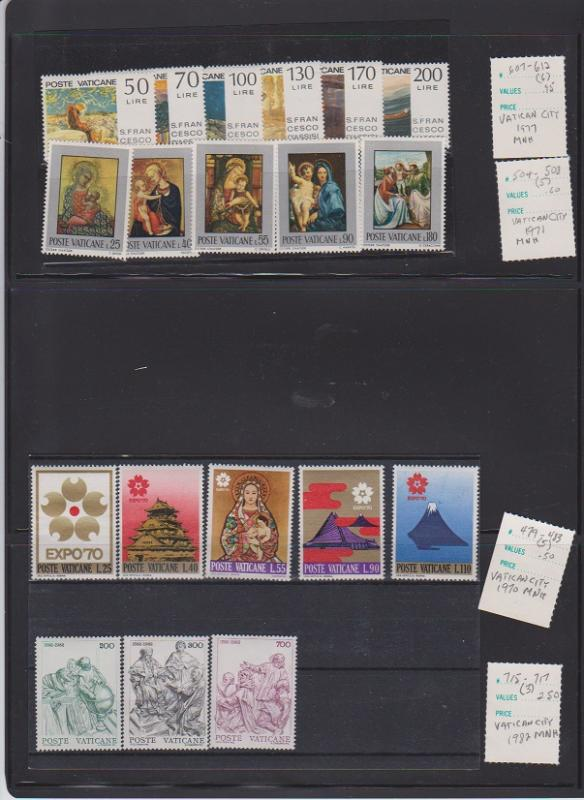 POSTE VATICANE STAMPS MNH  .LOT#120