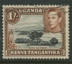 Kenya & Uganda - Scott 80a - KGVI Definitive -1949 - Used - Single 1/-c Stamp