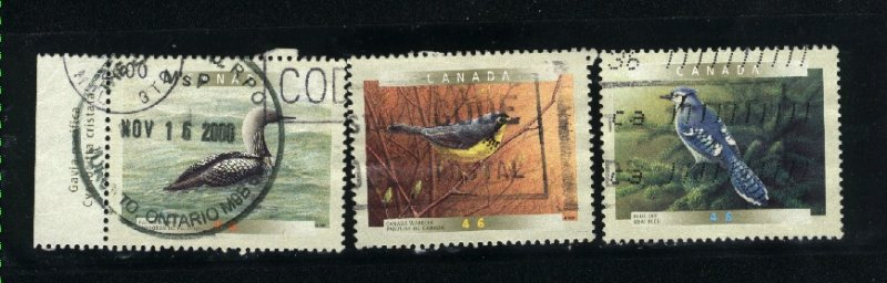 Canada #1839, 1841, 1842  -1   used VF 2000 PD