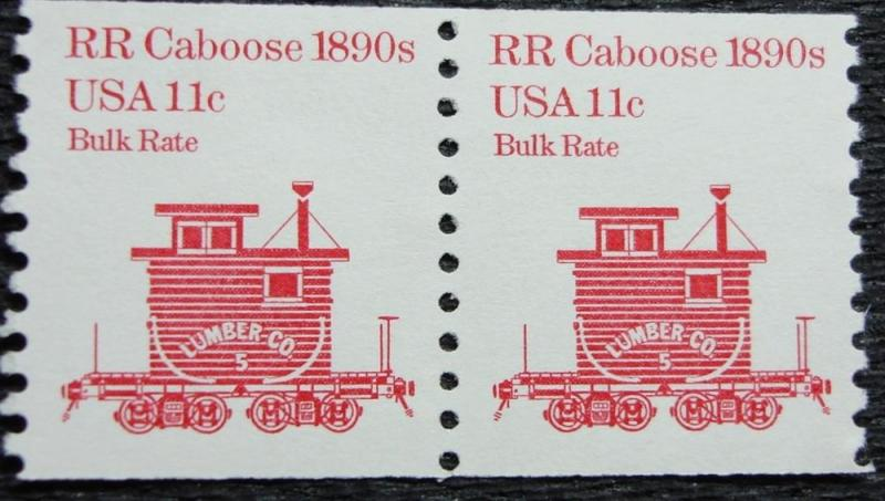US #1905 MNH Coil Pair, RR Caboose, SCV $.60