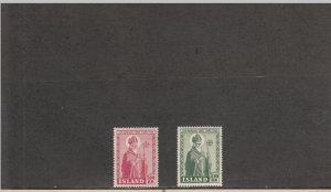 ICELAND *269-270 MNH 2019 SCOTT CATALOGUE VALUE $6.00