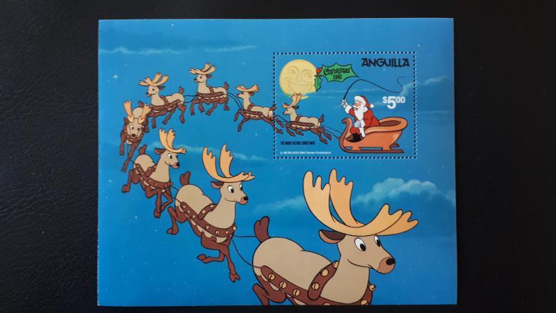 Disney - Anguilla - Christmas 1981. ** MNH Block