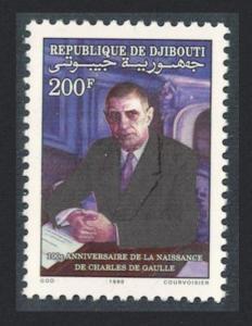 Djibouti Birth Centenary of Charles de Gaulle French statesman 1v SG#1054