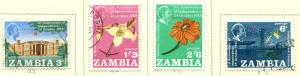 Zambia SC# 22-5  1st Anniv of Indepenence, set MH/Used
