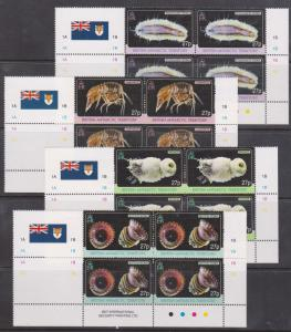 British Antarctic Territory -2010 Marine Life Set in Cylinder Blocks VF-NH