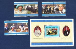 KIRIBATI - Scott 698-704 - FVF MNH - QEII & Philip 50th anniversary - 1997