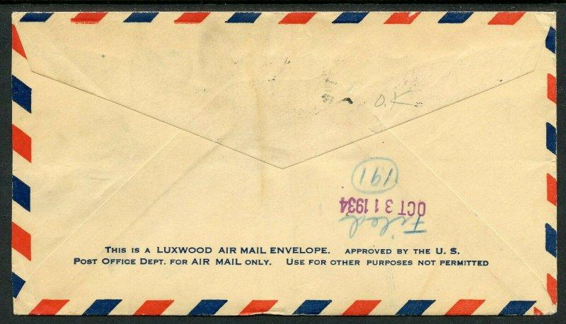 U.S. Scott 649 (3) Aeronautics Conference On 1934 First Flight From Hawaii