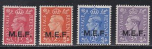 Great Britain - Middle East Forces # 10-13, Light Hinged, 1/3 Cat.