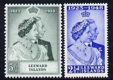 Leeward Islands 1949 KG6 Royal Silver Wedding set of 2 un...