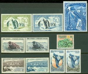EDW1949SELL : F.S.A.T. 1956-69 Scott #2-7, 11, C1-2, 17 VF, Mint OG LH Cat $167.
