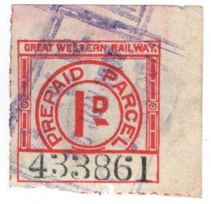 (I.B) Great Western Railway : Prepaid Parcel 1d