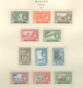 Malaya Pahang 72-82 Mint VF LH