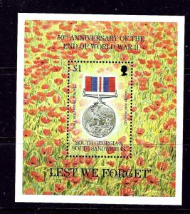 South Georgia 200 MNH 1995 End of WWII Anniversary S/S