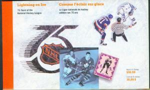 CANADA NHL Prestige Booklet 1992 contain Scott 1443-5a panes