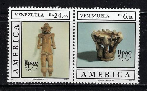 Venezuela 1434a Hinged 1989 Pair