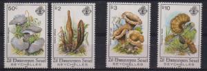 Seychelles - Zil Elwannyen Sesel Sc 92-5 1985 Mushrooms stamp set mint NH