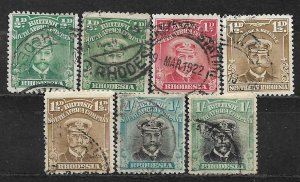 COLLECTION LOT OF 7 BRITISH SOUTH AFRICA COMPANY 1913 STAMPS CLEARANCE CV= $59